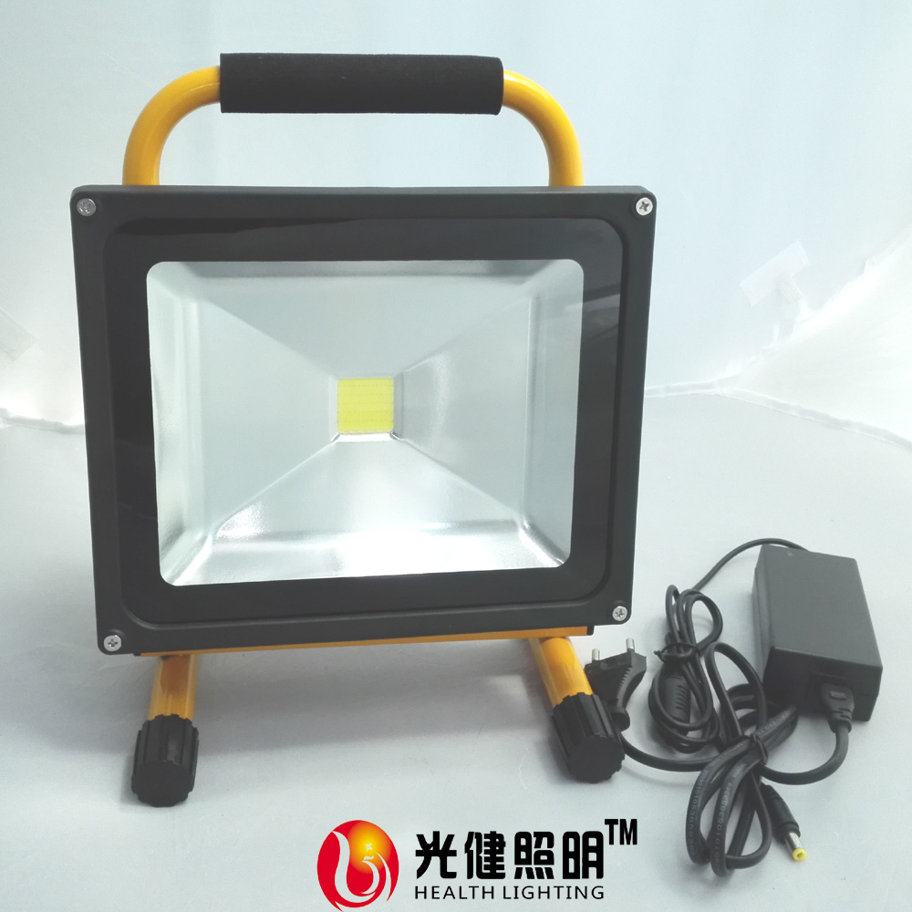 30W Rechargeable cordless portable working time8hours high power outdoor LED floodlight IP65 flood light