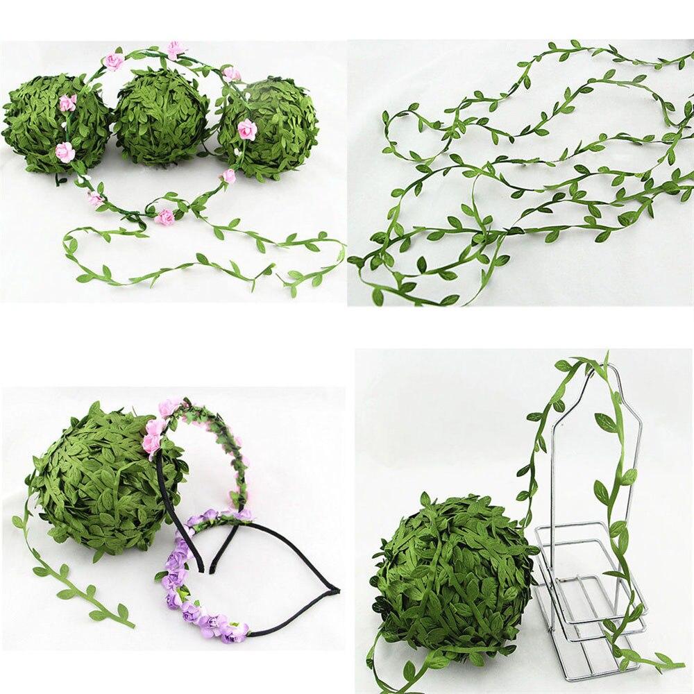 5 Meter Seide Blattförmige Handmake Künstliche Grüne Blätter Für Hochzeit  Dekoration Diy Kranz Geschenk Scrapbooking Handwerk Ge.