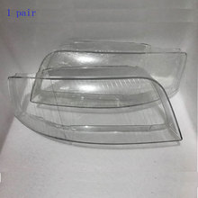 I fari anteriori fari lampada paralume in vetro coperchio della lampada shell mascherine trasparenti per Audi A6 C5 2003-2005 1 pair