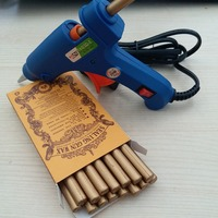 Classic Red Gold White Sealing Wax Stick 16 Pcs Box With 20W Hot Glue Gun For