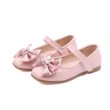 2019New Childrens Kids Shoes Girls bowknot Princess Student Dance Wedding Party for Girl White Black 3-14Years Old