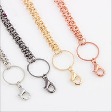 5pcs 4mm Ball Chains Necklaces chains with Lobster clasps fit Photo Floating Locket Charms Pendant for DIY Jewelry Making Z809
