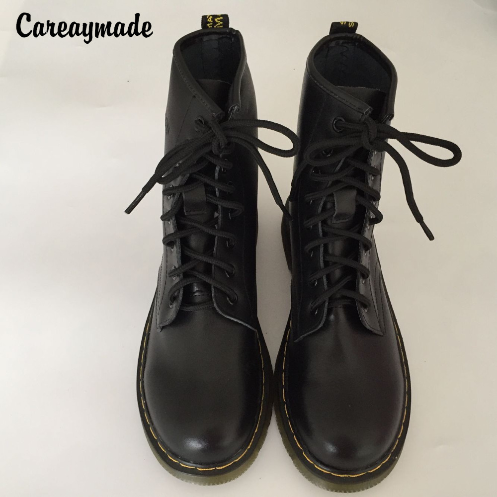 Careaymade,2018 new winter female shoes  Genuine leather boots British style fashion Boots,7 colors and the thickness of two wea serene handmade winter warm socks boots fashion british style leather retro tooling ankle men shoes size38 44 snow male footwear