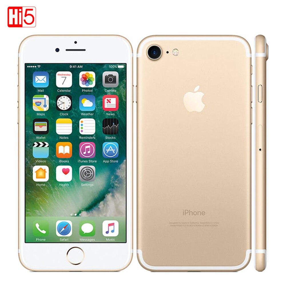 Débloqué Apple iphone 7/iphone 7 Plus 2 GB RAM 32/128 GB/256 GB IOS 10 LTE 12.0MP caméra Quad-Core empreinte digitale 12MP téléphones portables