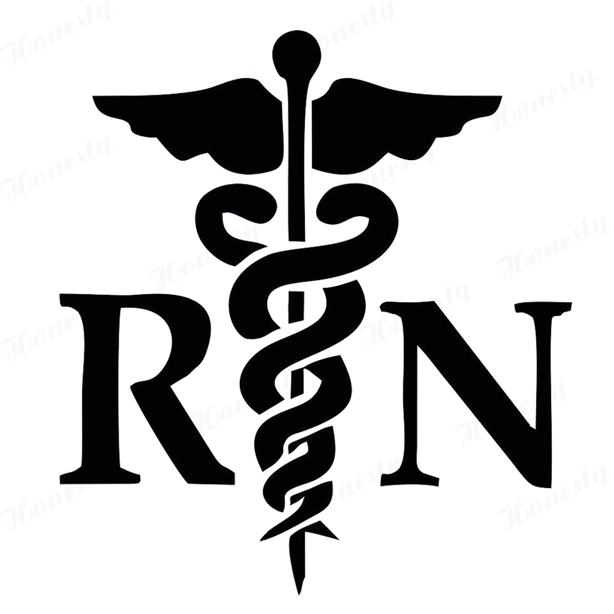 Caduceus RN Vinyl Sticker Decal Registered Nurse-in Car