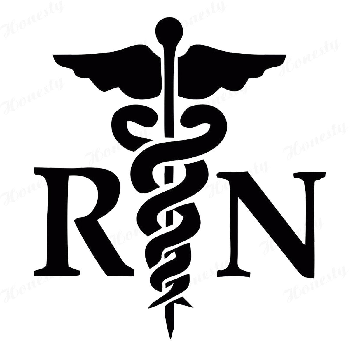 caduceus rn vinyl sticker decal registered nurse