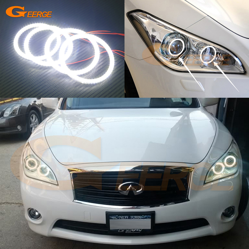 For NISSAN FUGA Y51 2011 2012 2013 2014 Excellent angel eyes Ultra bright illumination smd led Angel Eyes Halo Ring kit bigbang 2012 bigbang live concert alive tour in seoul release date 2013 01 10 kpop