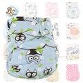 Fábrica Atacado Recém-nascidos Fraldas Reutilizáveis Bebê Fraldas AIO Fralda 10 Pçs/saco Supersoft Capas de Fralda de Pano de Impressão À Prova D' Água
