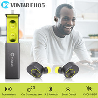 Original VONTAR EH05 Bluetooth Headsets super mini true wireless earphone with charger box Bluetooth Hands free Noise Cancel