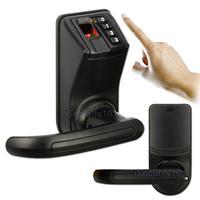 NOVO LS911 LS9 Preto Senha De Impressão Digital Biométrico de Controle de Acesso Fechadura Da Porta