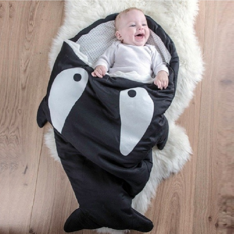 Whale Newborn Sleepsacks Thick Baby Blankets Shark Fish Infant Robes Quilt Bed Boys Envelope Sleep sack Girls Sleeping Bag 0-2Y infant baby sleeping bag baby blankets quilt thick natural cotton sleeping bag detachable sleeves newborn swaddling clothes