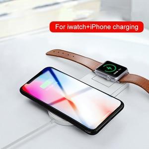 Qi Беспроводное зарядное устройство для iPhone X XS Max Беспроводная зарядка для Apple Watch 3 2 1 10 Вт USB Qi зарядное устройство для samsung S9 S8 Plus