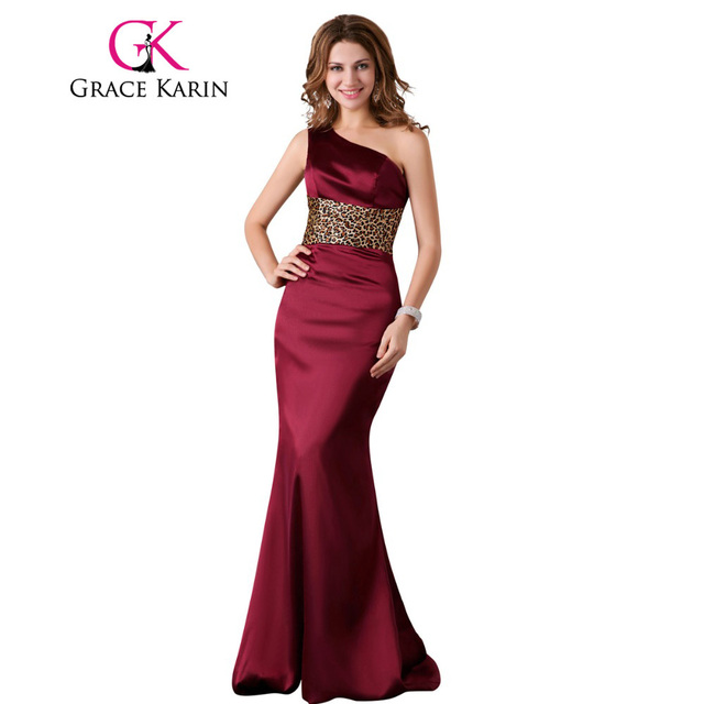 Grace Karin Mermaid Prom Dress One Shoulder Long Evening Gowns ...