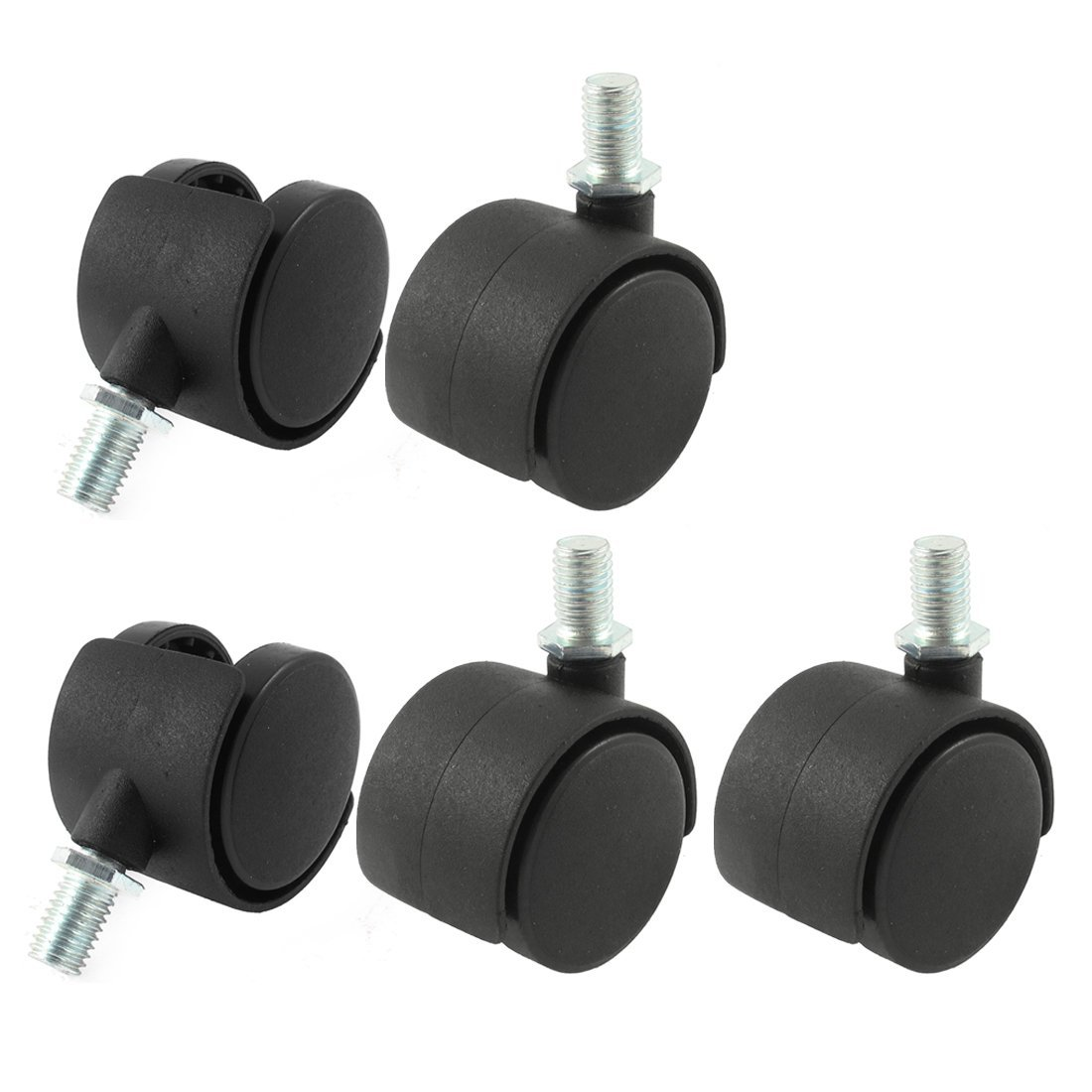 chair casters threaded stem reupholster outdoor chairs 8mm 2 inch dia wheel swivel caster 5