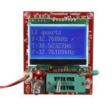 M644 testador transistor de diodo l c r, tríodo, transistor capacitor de medição lcd digital, testador de transistor inteligente