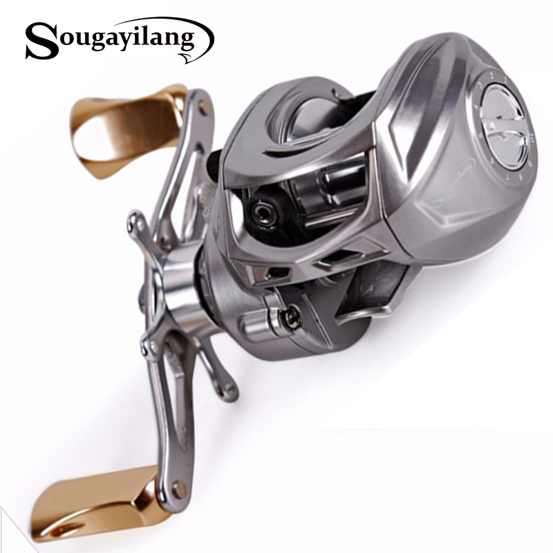 Sougayilang Baitcasting Fishing Reel 9+1BB 7.0:1High Speed Magnetic Fishing Reel Fishing Coil Reel Wheel Left Right Hand Choose nunatak original 2017 baitcasting fishing reel t3 mx 1016sh 5 0kg 6 1bb 7 1 1 right hand casting fishing reels saltwater wheel