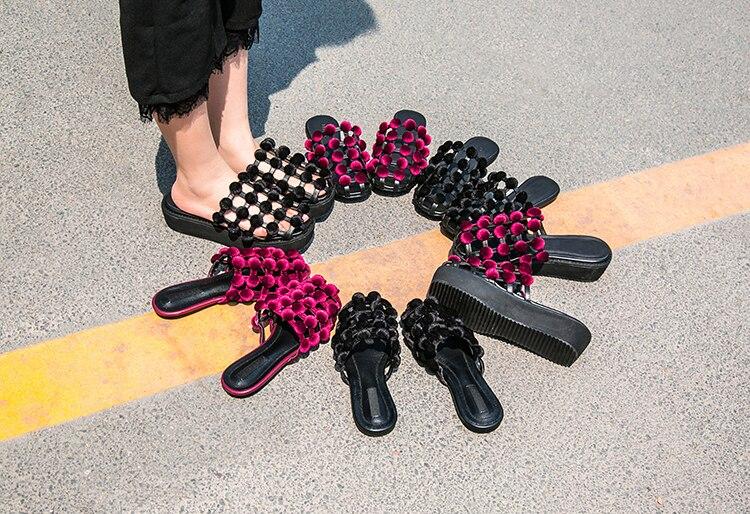 Dames Clouté Black En Chaussures Jawakye Plage Diapositives Velours D'été Femme Boucle Velvet Plat Pantoufles Flip Velvet Flops Sandales wine Cage Cuir Red Femmes 7Uddaxnq5f