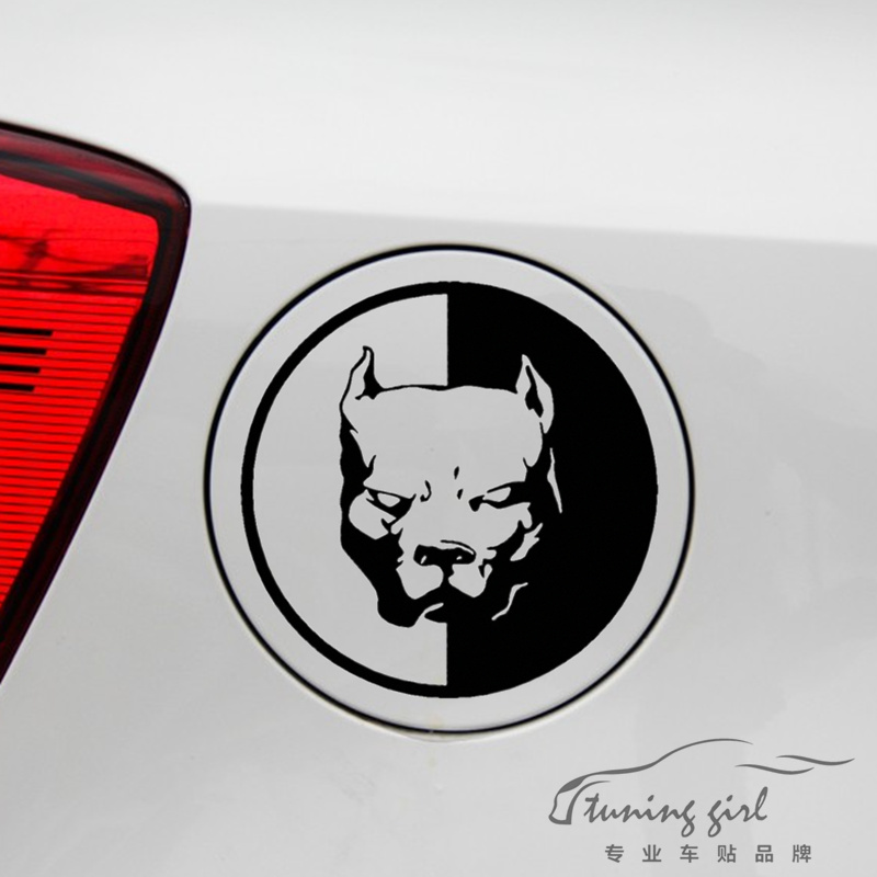 Car Stickers Bulldog Hound Head Of Dog Funny Creative Decals Waterproof Auto Tuning Styling 13x13cm & 20x20cm D16