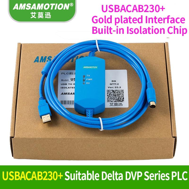 Suitable Delta PLC Programming Cable USB-DVP Communication Cable USBACAB230 DVP ES EE SS