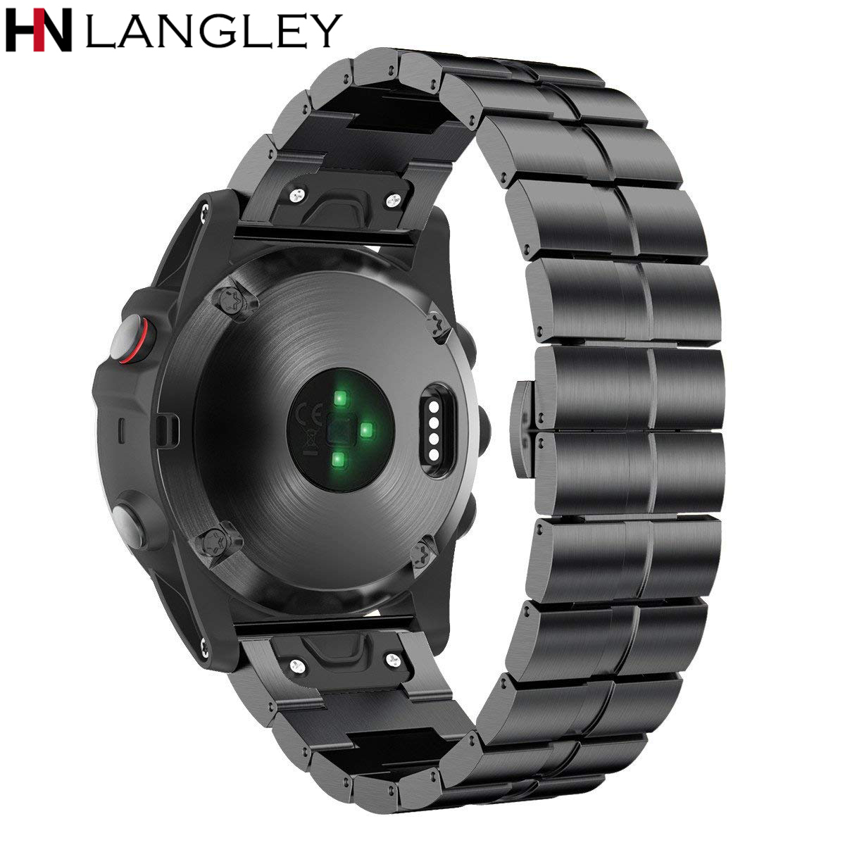 Steel Bands For Garmin Fenix 3 Fenix HR Band 26mm Width Easy Fit Stainless Steel Watch Bands for Garmin Fenix 5X/Fenix 5X Plus