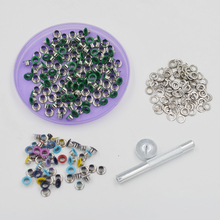 200 sets / bag. An inner diameter of 5mm. Metal eyelets. Stomata. Button. Buckle. Circle meson. Color eyelets. Color painting. недорого