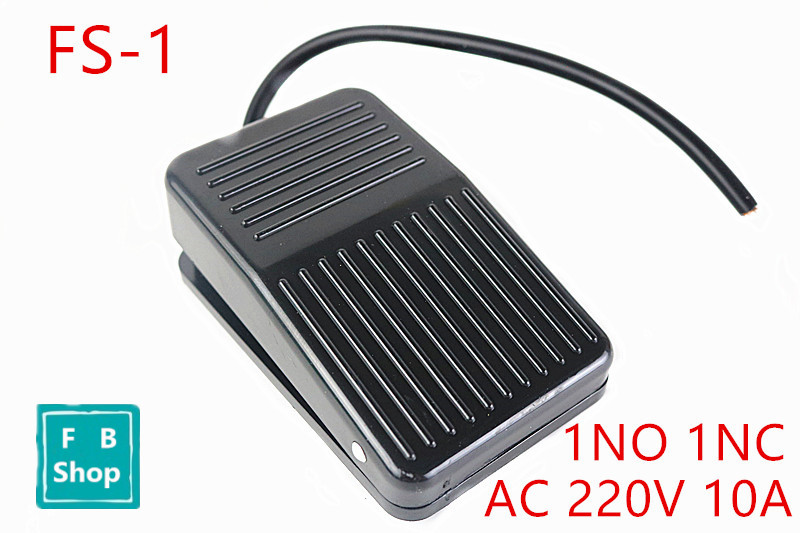 цена на 1PCS FS-1 10cm Foot switch Foot shoe switch Since the reset pedal switch controller molded case AC 220V 10A 1 NO 1 NC