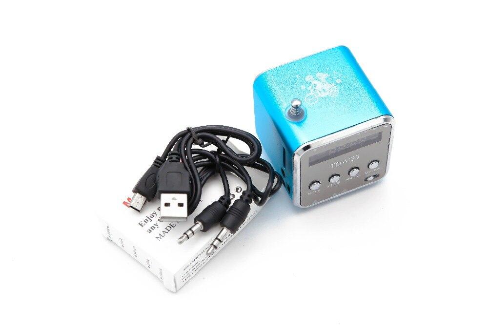 Nuevo Mini altavoz inalámbrico de Radio portátil Micro USB altavoces estéreo Ubwoofer columna Super Bass FM Radio Receiver-5