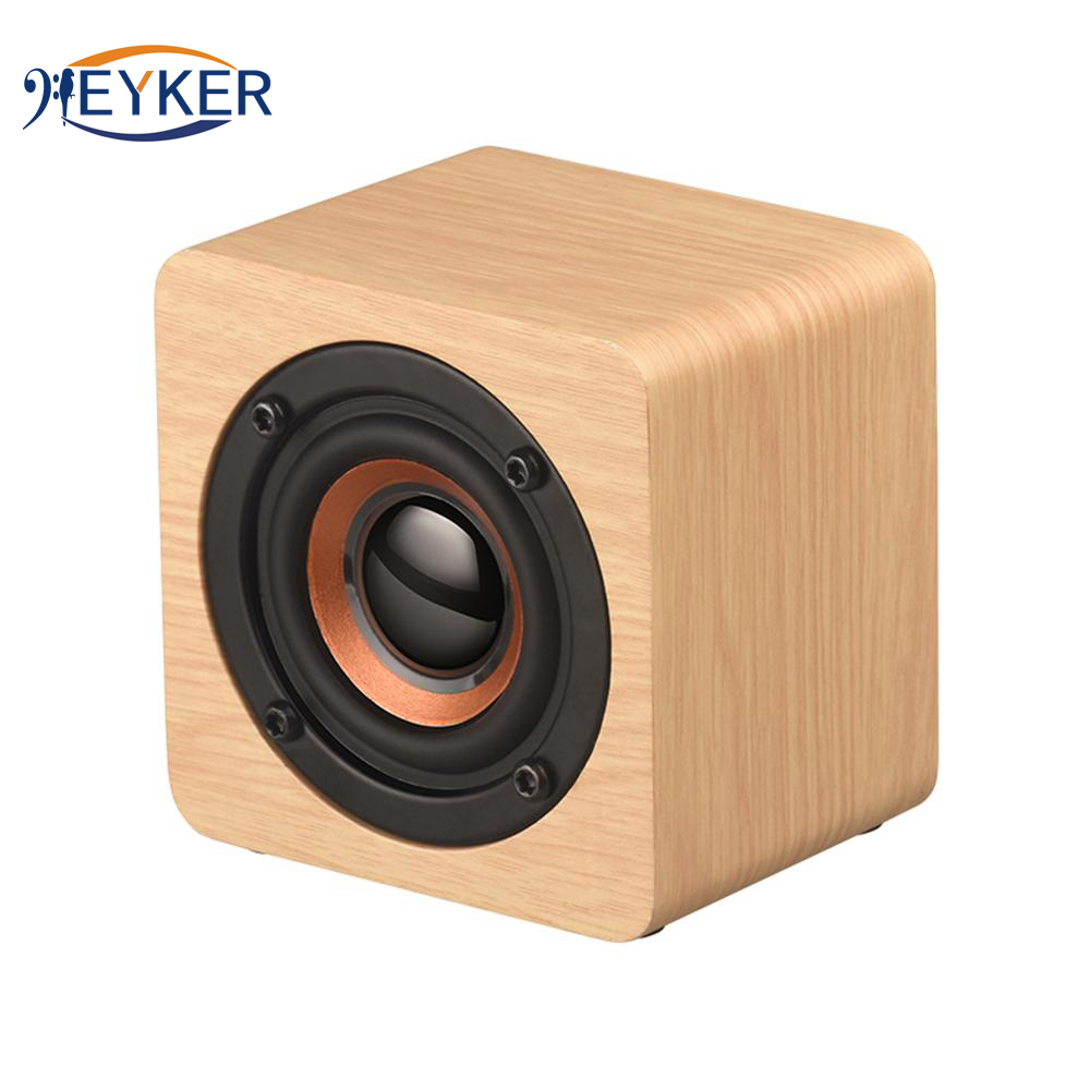 Active Mini Wooden Bluetooth Speaker Portable Wireless Subwoofer Bass Sound Box Music Magic Mp3 For Xaomi Smartphone Tablet Pc Boombox