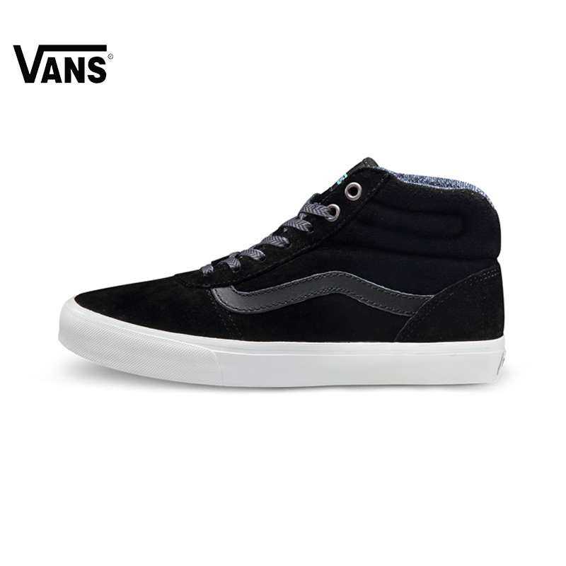 Original Vans New Arrival Fall Black Color Women's Skateboarding Shoes Sports Shoes Sneakers free shipping