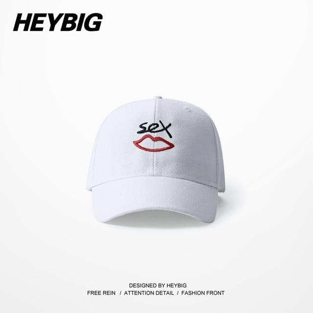 Sex lip Dad cap HEYBIG youth Hip hop baseball caps 2017 NEW ARRIVALS snapback Hat Curve Brimmed Hats Adjustable Gorras bone