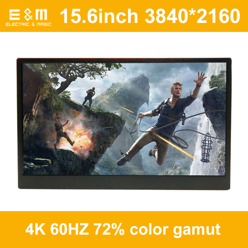 15.6 Inch IPS 4K Portable Game Display For Ps4 Pro Xbox HDMI DP 3840*2160 HDR Screen Support HDCP 2.2 With Foldable Stand