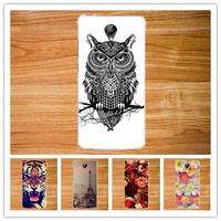 New Clearly Painted TPU case For Micromax Bolt D320 Stand Protector Series cover Beauty Flower Style case For Micromax bolt d320