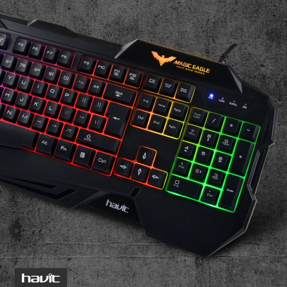 7484195f230 HAVIT HV KB558CM Wired Backlit Gaming Keyboard and Mouse Combo (Black), UK  layout , Teclado Gamer Kit for PC Desktop Laptop-in Keyboard Mouse Combos  from ...
