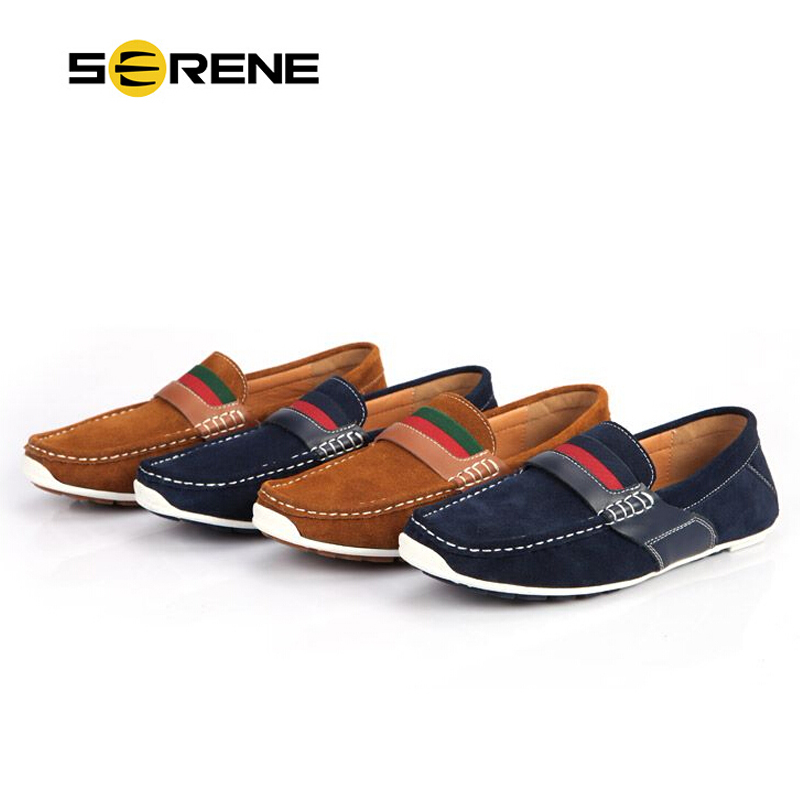 Men's British Style Casual Comfort Slip on Loafer Flats Shoes
