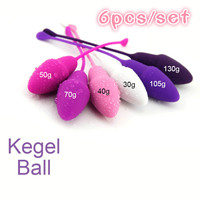 6pcs Silicone Vagina Kegel Ball Different Weight Ben Wa Balls Sex Toys For Women Vaginal Tight Exercise New Adult Product