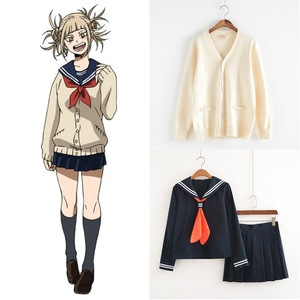 Image 1 - My Hero Academia Cosplay Costume Anime Boku no Hero Academia Cosplay Himiko Toga JK Uniforms Women Sailor Suits with Sweaters