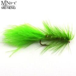 MNFT 10PCS Wooly Bugger Olive Body Green Fishing Flies Trout Steelhead Long Shank Fly Tying 10# Hooks