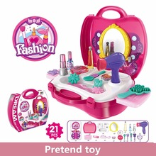 Child Pretend Play Toy Simulation Princess Dressing Table Pretend Play Set Comb Hair Dryer Hairwork Learn