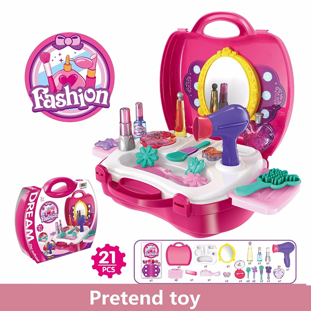 Dressing Table Pretend Play Set Comb Hair Dryer Hairwork Learning Play Toy