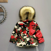 New Baby Boy Girl Autumn Winter Coat with Fur Hood Thicken Jackets Warm Design Como Children Clothing High Quality Cotton Parka
