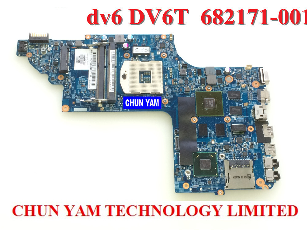 Wholesale laptop Motherboard 682171-001 for HP Envy DV6 DV6-7000 630M/2G Notebook PC systemboard 682171-501 90 Days Warranty 720569 501 720569 001 for hp envy touchsmart 15 15 j laptop motherboard hm87 gt750m 2g notebook systemboard mainboard