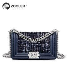 New women shoulder messenger Bag 2019 ladies handbag cross body genuine leather bag ZOOLER luxury designer purses 2019 hot #E123