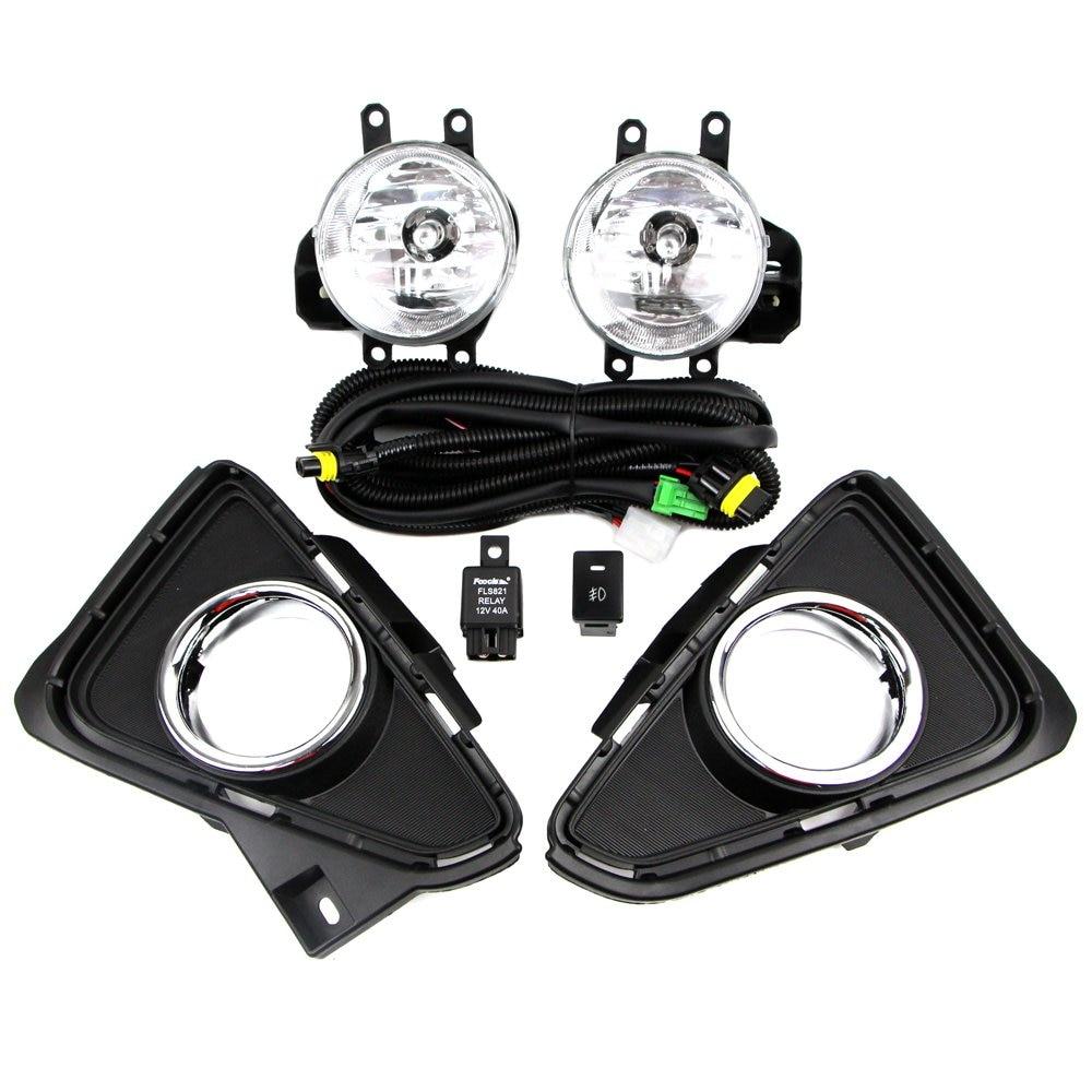 Fog Lamp Kit for Toyota RAV4 2016 2017 2018 Bezel Relay Wire Harness Light Switch