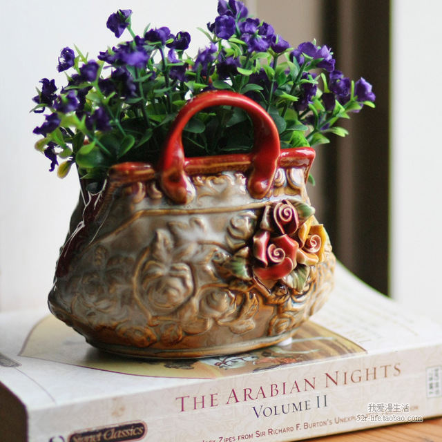 Us 180 Styl Duszpasterska Kreatywny Kolor Dekoracyjne Ceramiczne Pakiet Dekoracji Lub Doniczka Zbiornik Może Otrzymać Drobiazgi W Styl