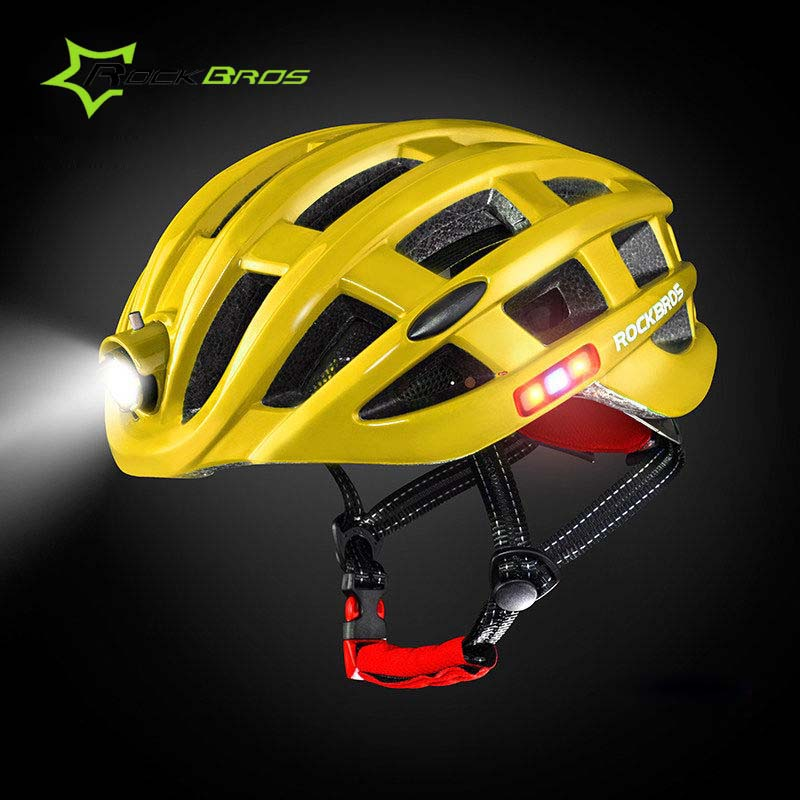 все цены на Rockbros 2018 Light Cycling Helmet Waterproof Bicycle Helmet Intergrally-molded Women Men Mountain Road Bike Helmet 49-59cm онлайн