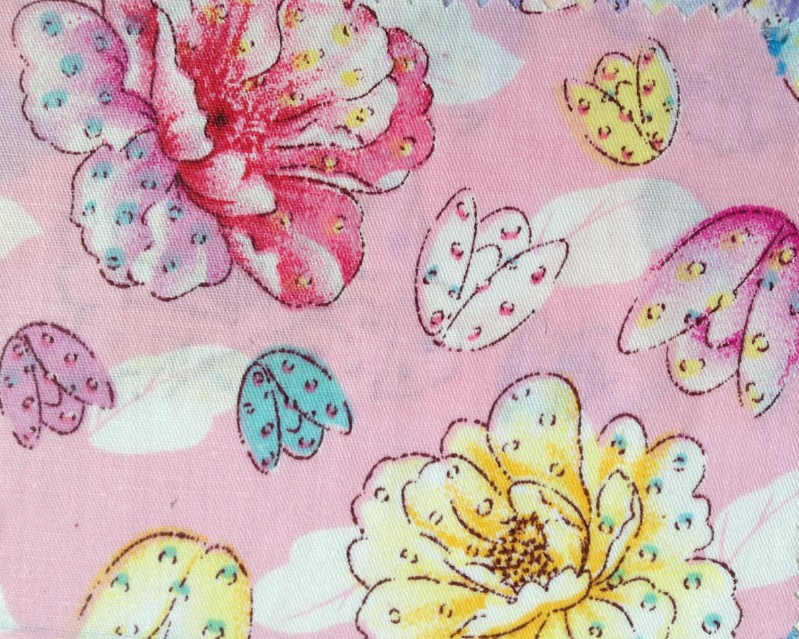 Free shipping fashion 100 cotton flower printed colorful for Fabric for children s clothes
