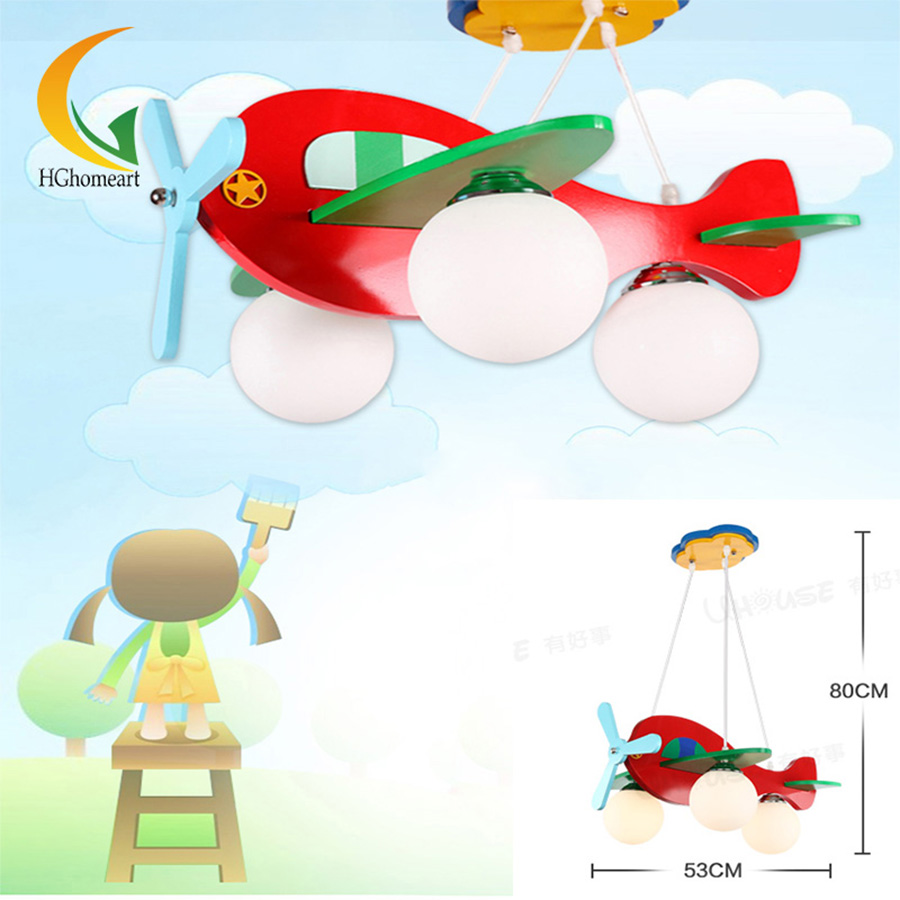 Resin aircraft baby room 220V E27 Ledchandelier ceiling lovely Led chandeliers design children's chandelier indoor lighting the misfortunes of virtue and other early tales