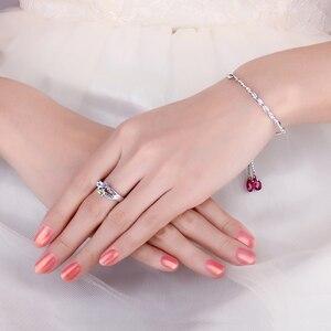 Image 4 - JewelryPalace hayat aşk gülmek kalp hakiki Peridot ametist Topaz yüzük 925 ayar gümüş yüzük kadınlar için söz yüzüğü takı