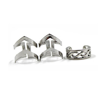 Women's Minimalistic Phalanx Rings 3 pcs Set Jewelry Rings Women Jewelry Main Stone Color: beige
