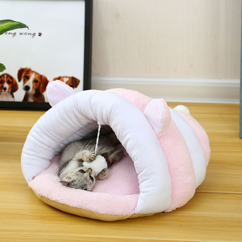 Pet Mat Winter Warm Nest Pet Cat Small Dog Puppy Kennel Bed Sofa Sleeping Soft Polar Fleece Bag House Puppy Cave Bed 5 Colorss-l